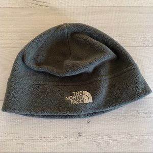 North Face Beanie Hat Gray Medium Fleece Polartec